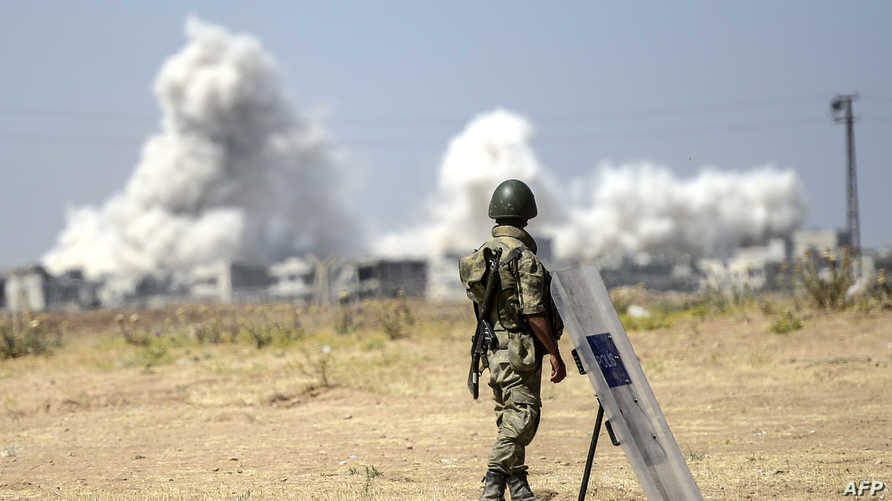 جندي تركي على الحدود- آرشيف