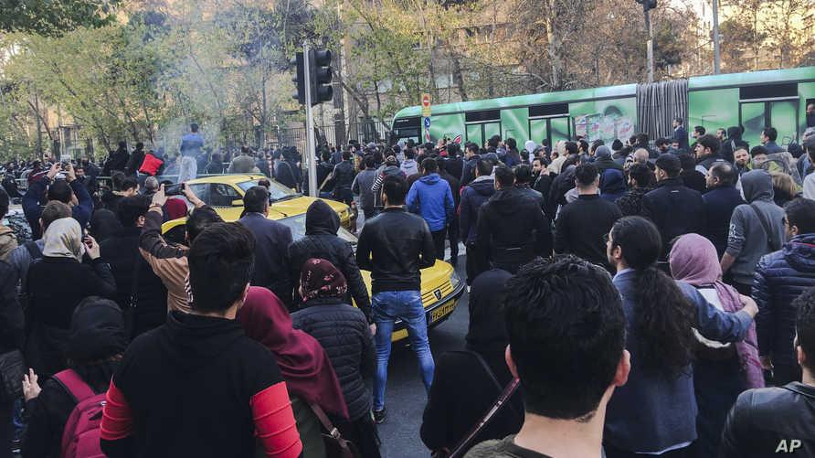 جانب من مظاهرة في طهران