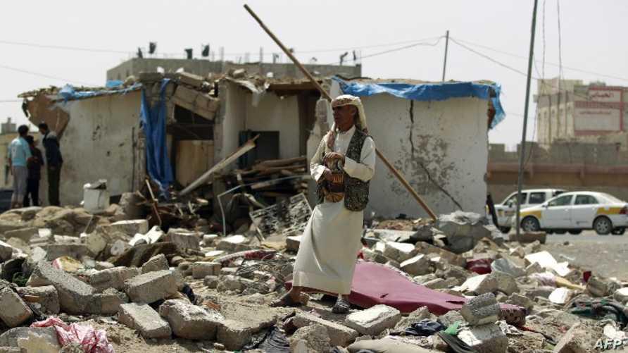 دمار خلفته غارات التحالف الدولي على صنعاء