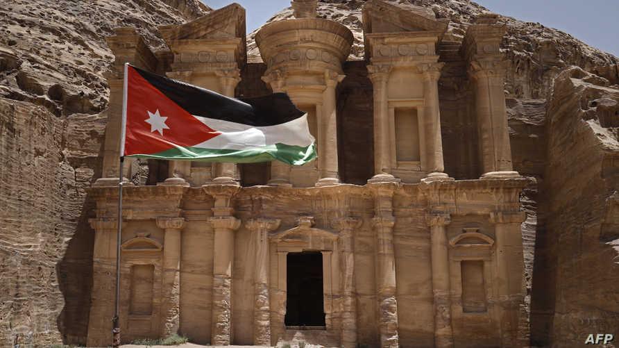 جزء من مدينة بترا الأثرية في الأردن