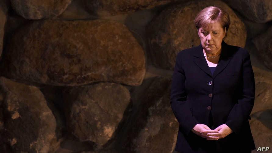 المستشارة الألمانية أنغيلا ميركل تزور مؤسسة الكارثة والبطولة في إسرائيل
