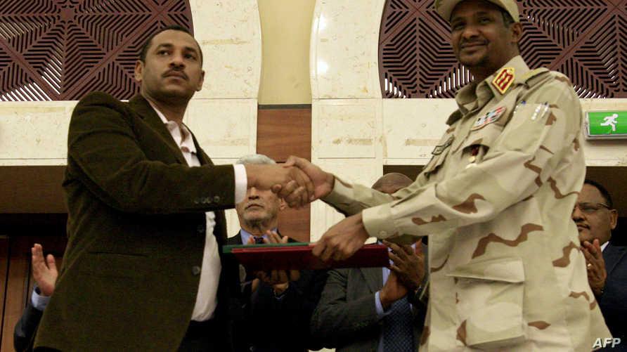 المجلس العسكري السوداني وقوى الحرية والتغيير يوقعان الاتفاق السياسي - 17 يوليو 2019
