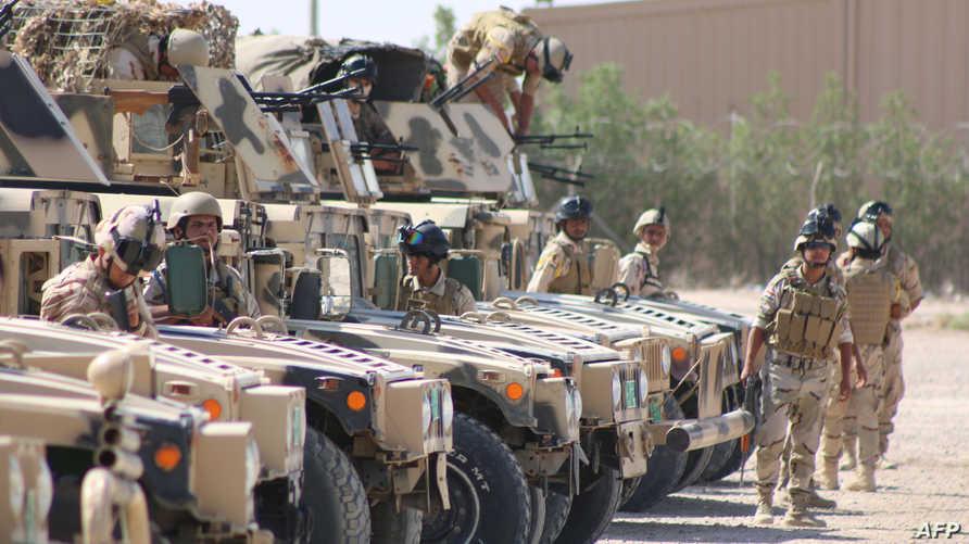 جنود عراقيون خلال تدريبات- أرشيف