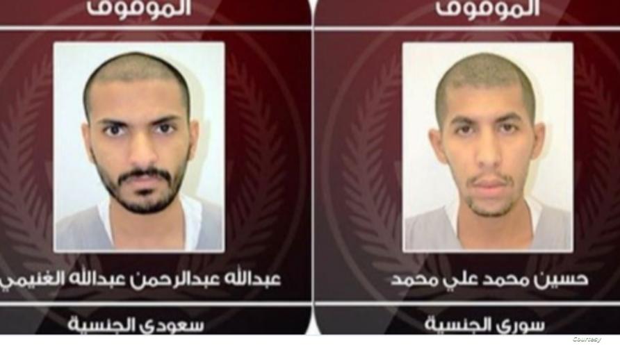 صور المشتبه بهما في محاولة تفجير مطعم في القطيف نشرتها وزارة الداخلية السعودية على تويتر