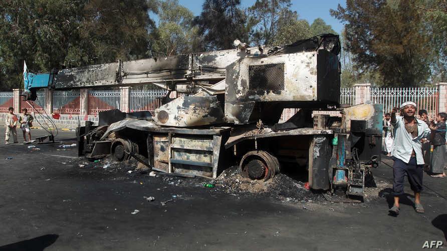 مخلفات اشتباكات سابقة في اليمن