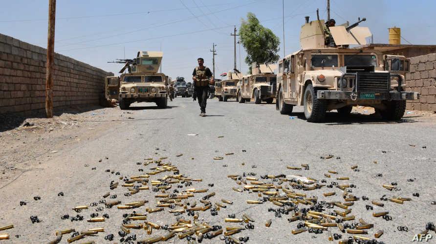 قوات عراقية قرب القيارة