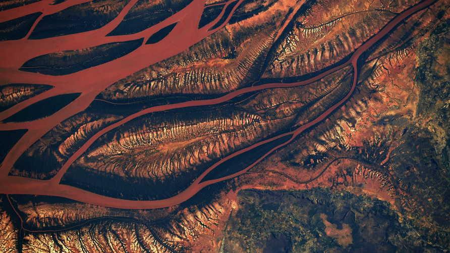 صورة من الفضاء لغابة وسط مدغقشر
