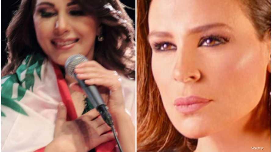الفنانتان اللبنانيتان كارول سماحة وماجدة الرومي