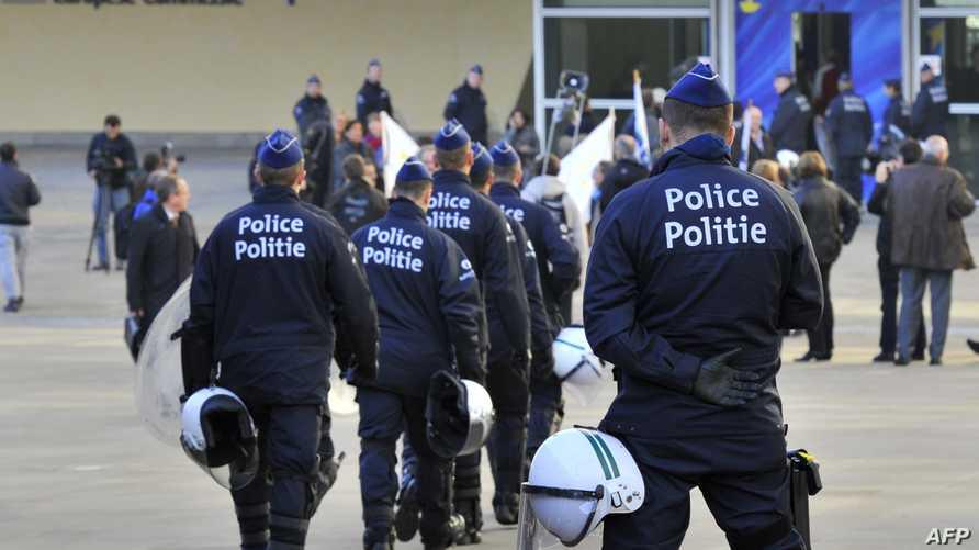 عناصر من الشرطة البلجيكية. أرشيف
