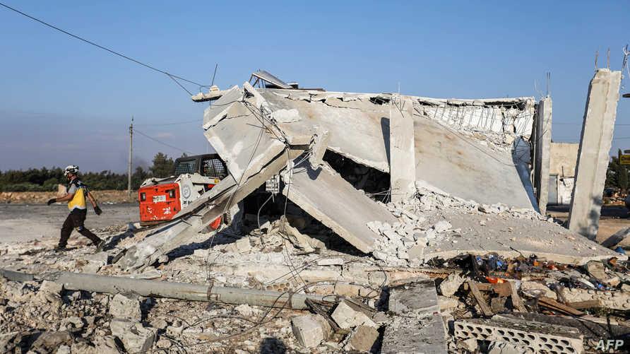 مناطق تعرضت للقصف في سوريا. أرشيفية - تعبيرية