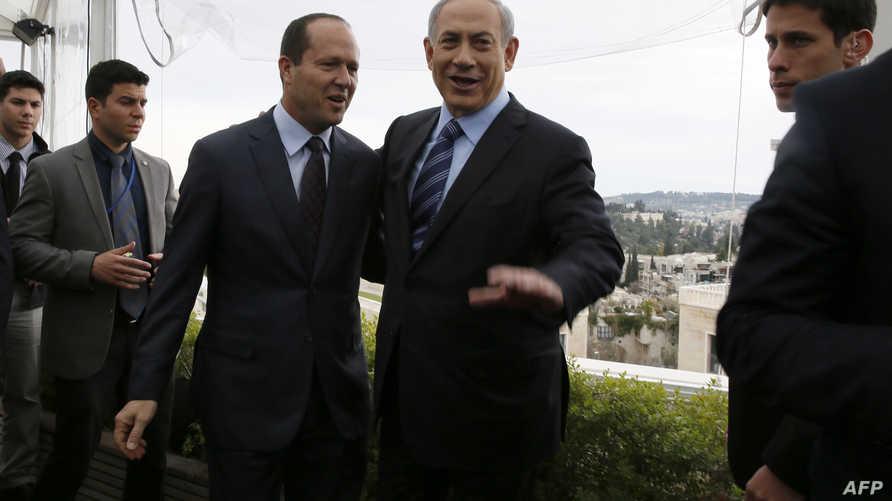 نتانياهو وبركات - أرشيف