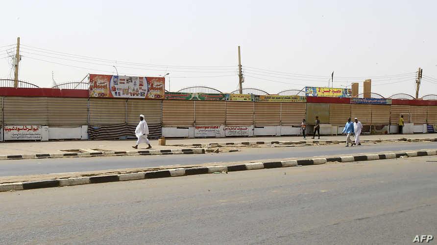 محال مغلقة في اليوم الأول من العصيان المدني في السودان