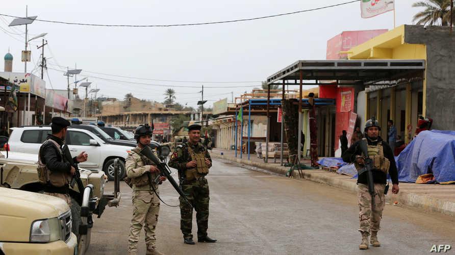 عناصر من الشرطة العراقية في ديالى