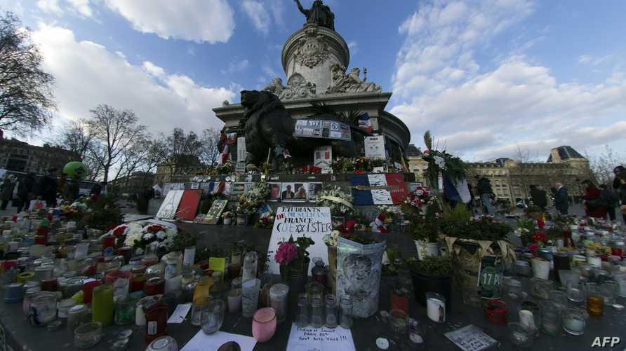 إحد مشاهد التضامن مع ضحايا هجمات باريس-أرشيف
