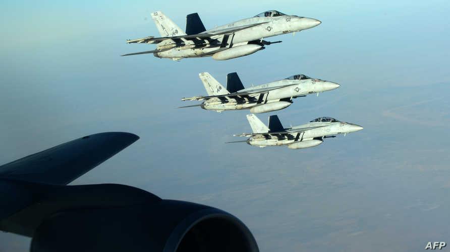 مقاتلات أميركية خلال غارات جوية على داعش