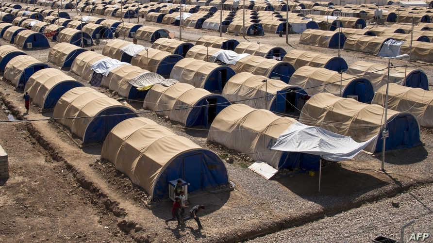خيام مخصصة للفارين من الحرب في الموصل