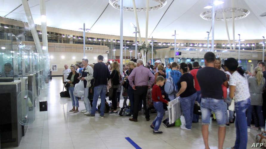 مطار شرم الشيخ يوم 5 تشرين الثاني/نوفمبر 2015