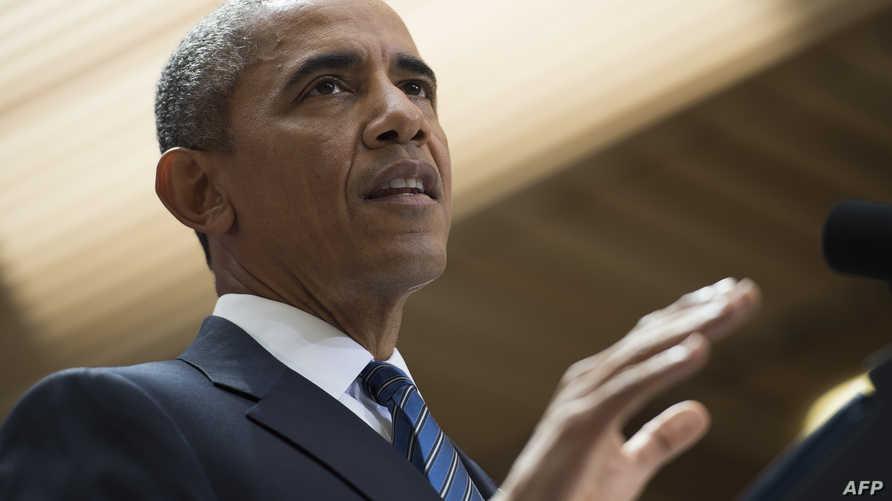 الرئيس باراك أوباما في الخطاب الذي ألقاه في واشنطن