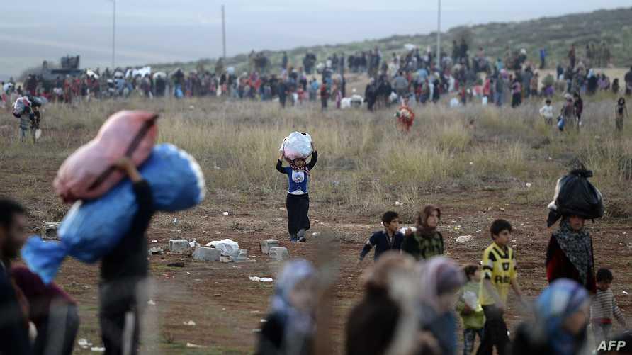 نزوح اللاجئين السوريين