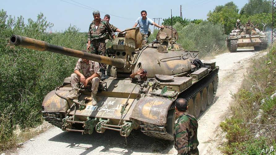 قوات نظامية سورية في اللاذقية -أرشيف