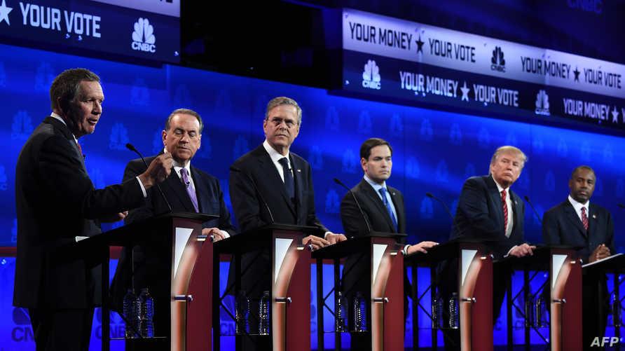 جانب من مناظرة سابقة للجمهوريين