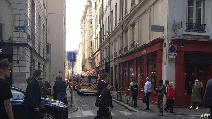 جانب من الشارع الذي شهد الانفجار