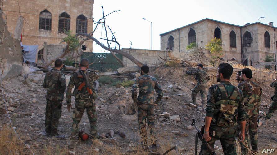 قوات حكومية في حلب