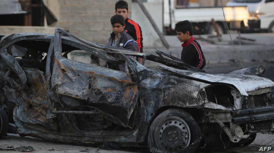 موقع هجوم في بغداد- أرشيف