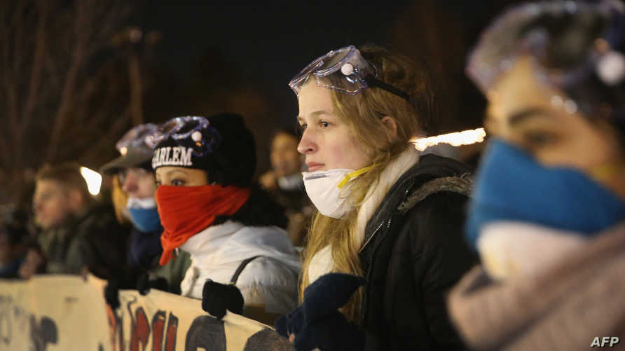 محتجون في فيرغسون