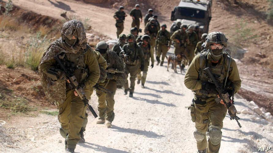 عناصر من الجيش الاسرائيلي أثناء عملية مطاردة ناشطين من حركة الجهاد الاسلامي. أرشيف