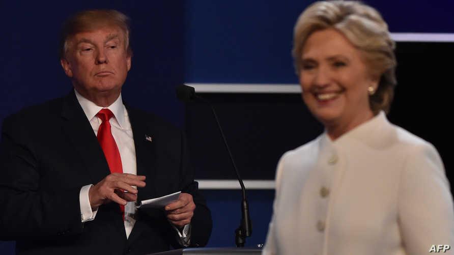 كلينتون وترامب خلال المناظرة الأخيرة