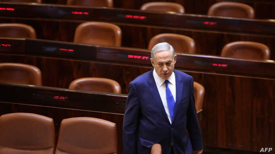 رئيس الوزراء الإسرائيلي بنيامين نتانياهو في الكنيست