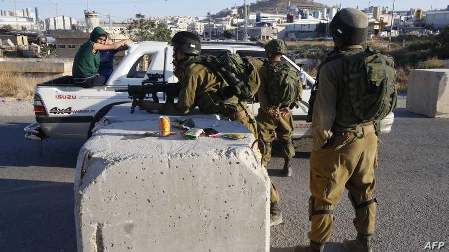قوات إسرائيلية في الضفة الغربية