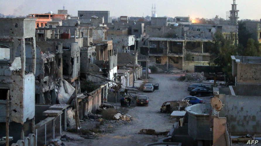 مخلفات اشتباكات سابقة في بنغازي