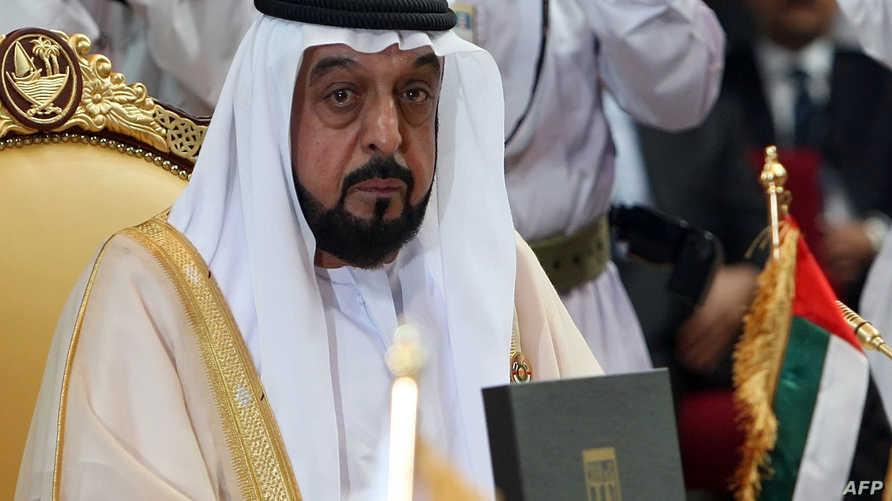 الشيخ خليفة بن زايد آل نهيان رئيس دولة الإمارات العربية المتحدة