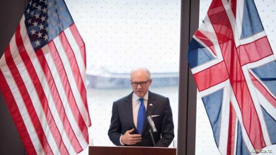 السفير الأمريكي لدى بريطانيا وودي جونسون