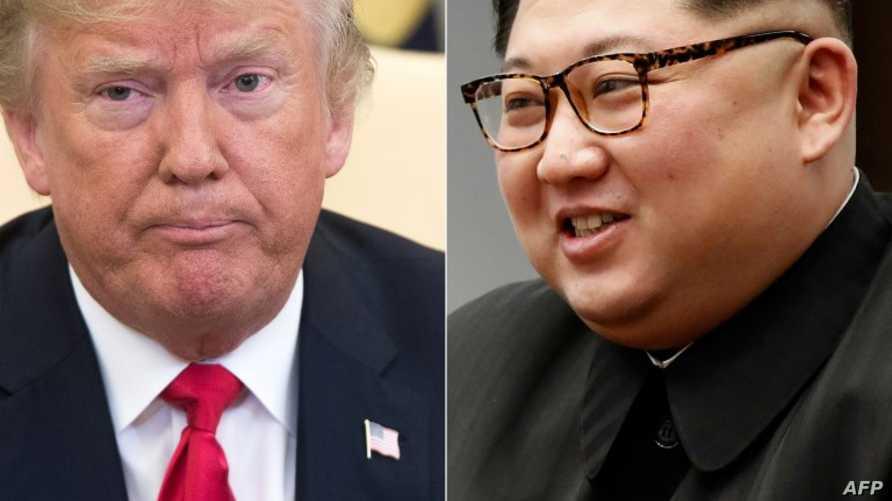 الرئيس دونالد ترامب والزعيم الكوري الشمالي كيم جونغ أون