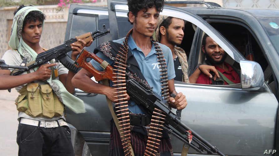 مسلحون موالون لعبد ربه منصور هادي في عدن