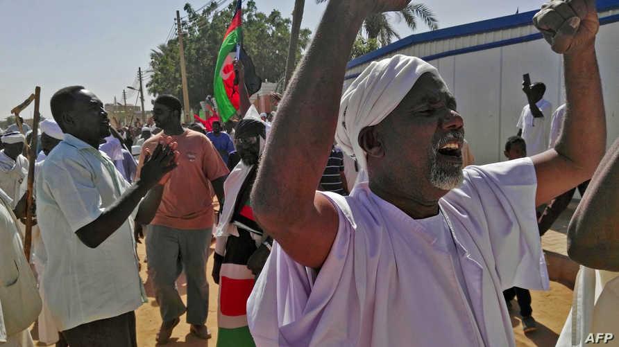 مظاهرة ضد نظام البشير في السودان
