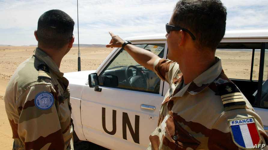 جنديان من بعثة 'المينورسو' الأممية لمتابعة وقف إطلاق النار في الصحراء الغربية