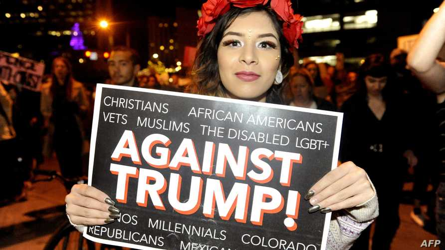 جانب من مظاهرة ضد ترامب في دنفر