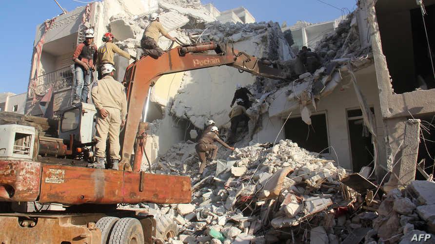 مخلفات المعارك في إدلب -أرشيف