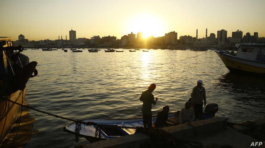 جانب من شاطئ غزة