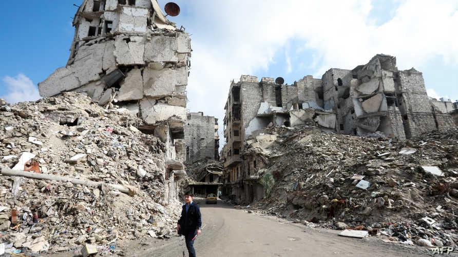 ما تبقى من حي صلاح الدين في حلب