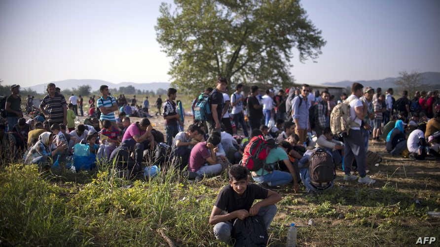 مهاجرون على حدود اليونان ومقدونيا-أرشيف