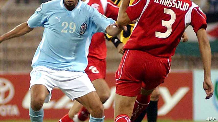 لاعب في فريق الفيصلي الاردني خلال مبارة
