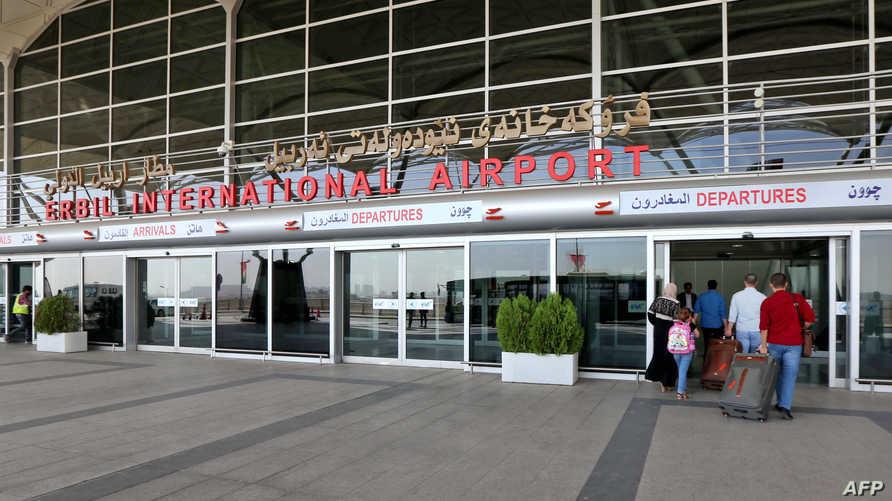 مدخل مطار أربيل