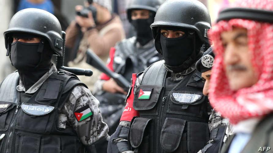 عناصر من الشرطة الأردنية في العاصمة عمان، أرشيف