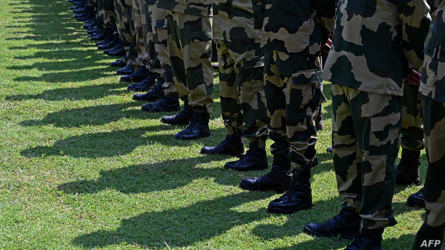 حرس الحدود في الهند خلال استعراض عسكري نهاية يوليو الماضي. أرشيفية