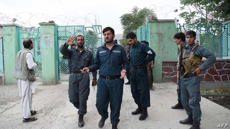 عناصر من الشرطة الأفغانية - أرشيف
